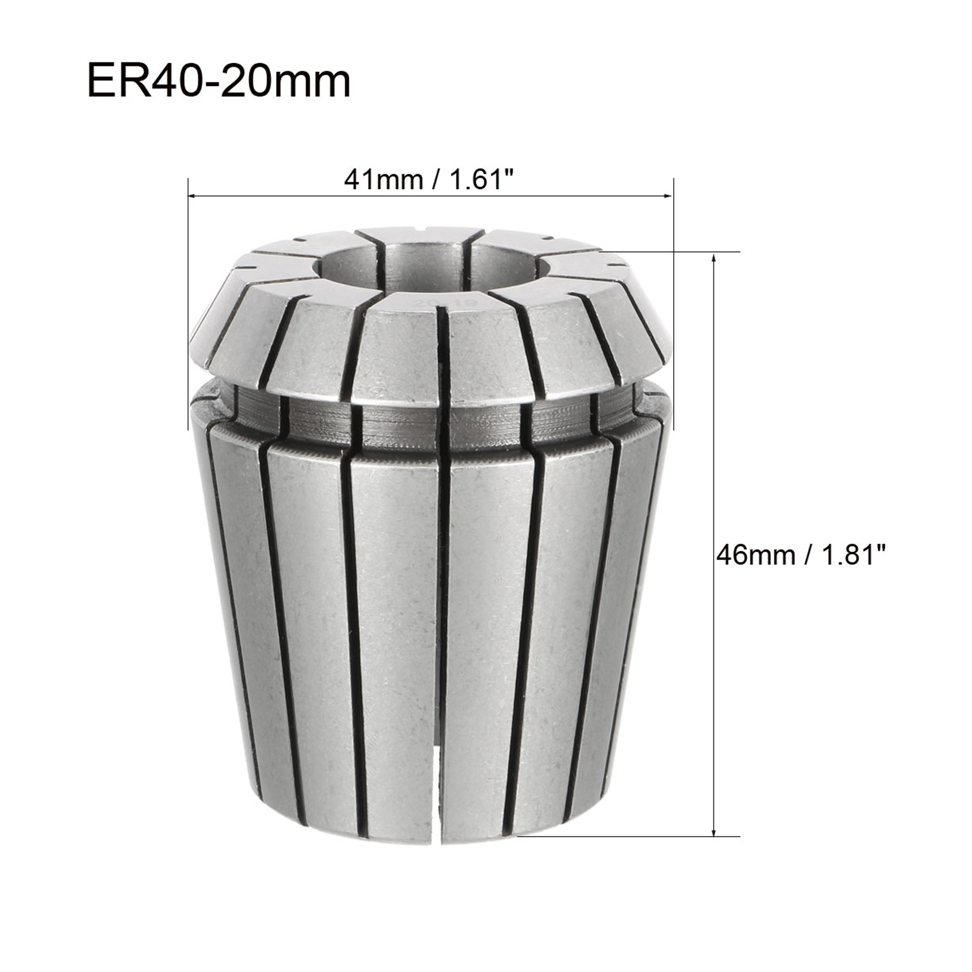 ER40 20mm Spring Collet Chuck for CNC Engraving Machine Lathe Milling Tool - image 2 of 3