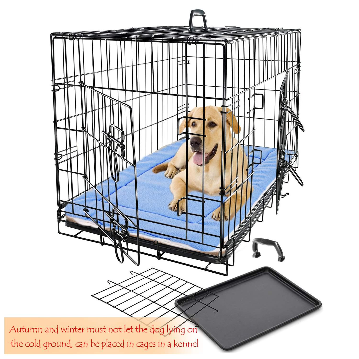 soft dog crate mat cage pad bed fleece mat cushion for pets spte walmartcom - Soft Dog Crates
