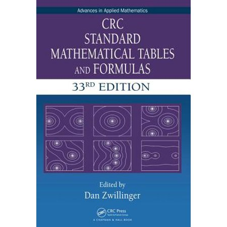 CRC Standard Mathematical Tables and Formulas, 33rd Edition