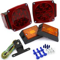 Stark 12 Volt LED Universal Mount Combination Trailer Tail Lights Kit Towing Applications Easy Mount DOT Compliant
