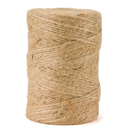 Jute Package Twine - 360 Feet, 3-Ply, All-Natural and Biodegradeable by - Natural Jute Twine