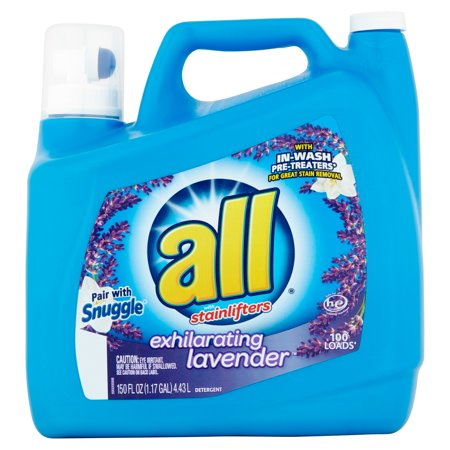 All Exhilarating Lavender Liquid Laundry Detergent  150 Fl Oz