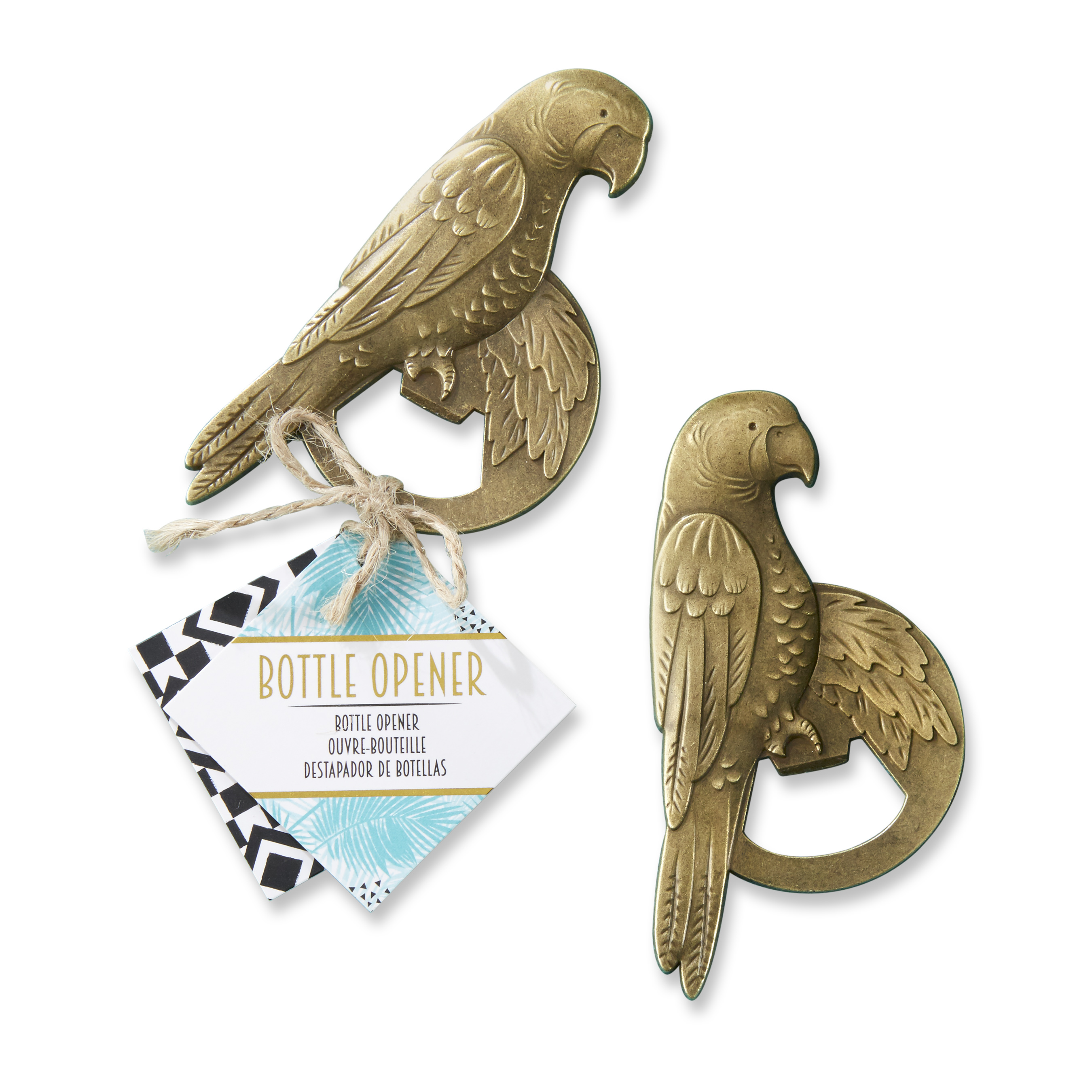 (5 Pack) Antique Gold Parrot Bottle Opener