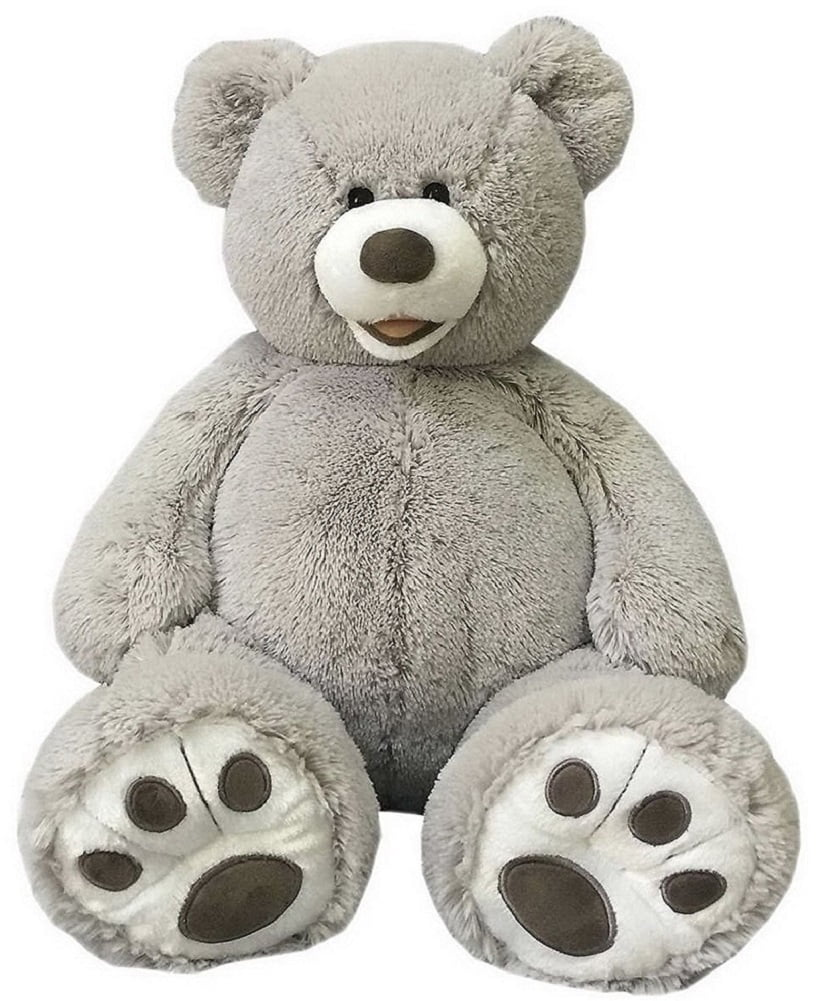 "Hugfun 25"" Plush Teddy Bear Stuffed Animal Gray by Hugfun"