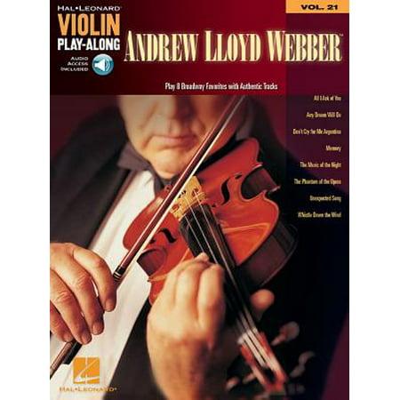 Violin Play-Along: Andrew Lloyd Webber: Violin Play-Along Volume 21 (Other) Andrew Lloyd Webber Violin