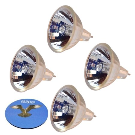 HQRP 4-Pack 120V 150W MR16 Shape GY5.3 Base Halogen Lamp Bulb for Wallach Surgical Zoomscope Zoomstar Colpostar Colposcopy Cryosurgery 906057 906117 906043 Stereoscopic ESD Replacement + HQRP Coaster