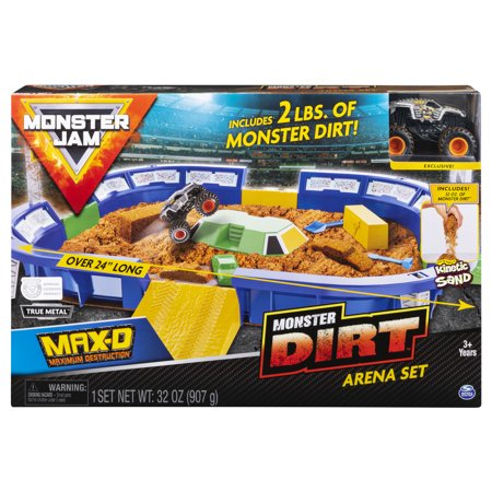 Monster Jam, Monster Dirt Arena 24-Inch Playset with 2lbs of Monster Dirt and Exclusive 1:64 Scale Die-Cast Monster Jam Truck ()