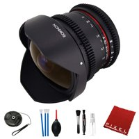 Rokinon 8mm T3.8 Cine UMC Fisheye CS II Lens for Nikon F Mount with Essential Accessories