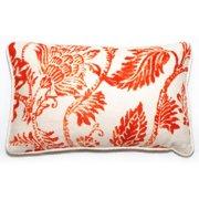 Corona Dcor Corona Decor Rectangular Orange Floral Throw Pillow