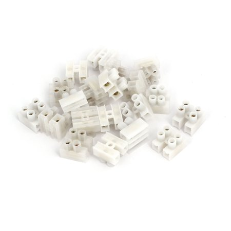 220V 2 Position H Type Screw Terminal Blocks Strips Wire Cable Connectors 20pcs