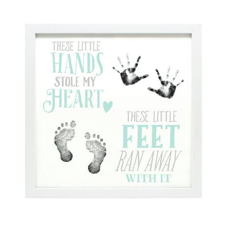 baby s handprint and footprint keepsake frame walmart com
