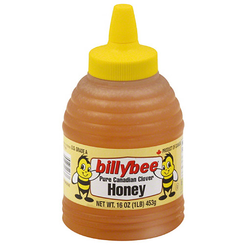 Billy Bee Pure Canadian Clover Honey, 16 oz, (Pack of 6)