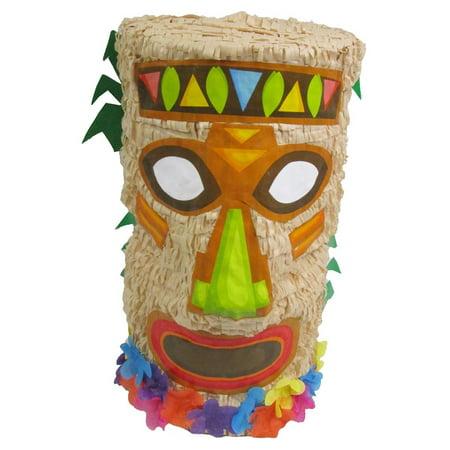 Tiki Pinata for Hawaiian Luau Party, Game, Decoration and Photo Prop - Luau Pinata