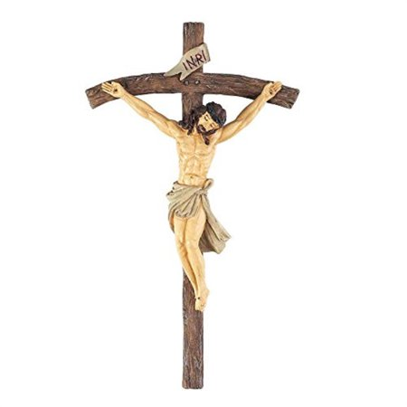 dicksons jesus christ nailed to cross 6 inch resin corpus crucifix hanging wall cross decoration