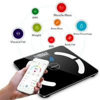 Ktaxon LED Blueteeth Body Scales Smart Electronic Digital Weight Balance