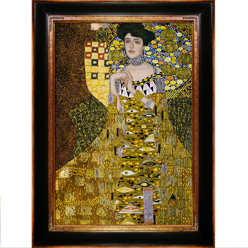 La Pastiche 'Portrait of Adele Bloch-Bauer I' by Gustav Klimt Framed Painting Print on Wrapped Canvas