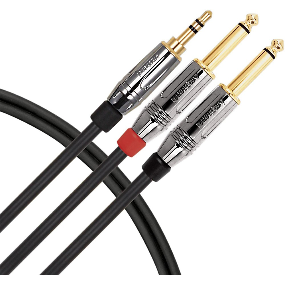 "Live Wire 1/8"" TRS to Dual 1/4"" Premium Interconnect Cable 9 ft."