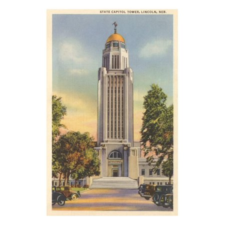Lincoln State Capitol (State Capitol Tower, Lincoln, Nebraska Print Wall)