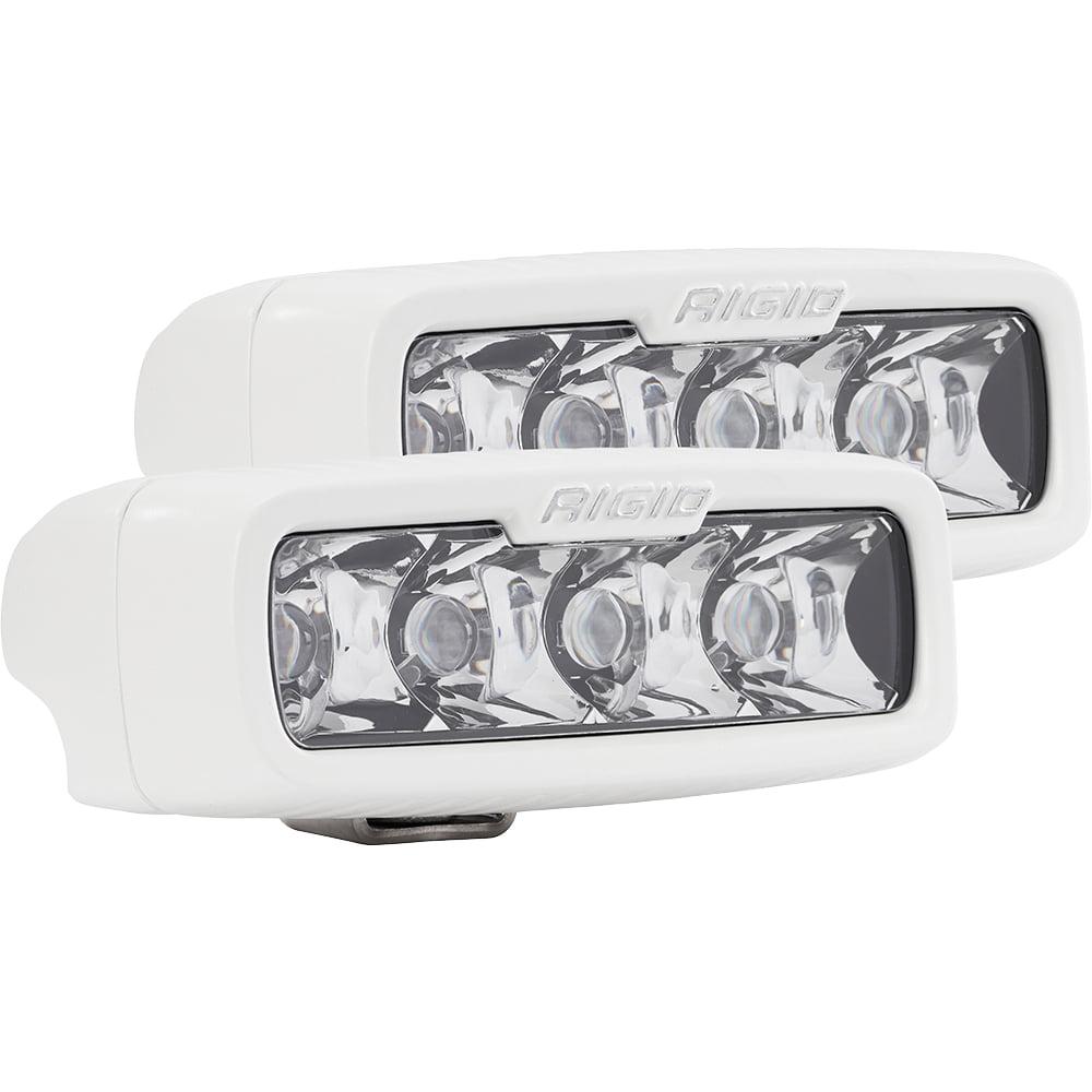 """104113 Rigid Industries LED E Series PRO Hybrid Optics Flood Light 4/"""" Light Bar"""