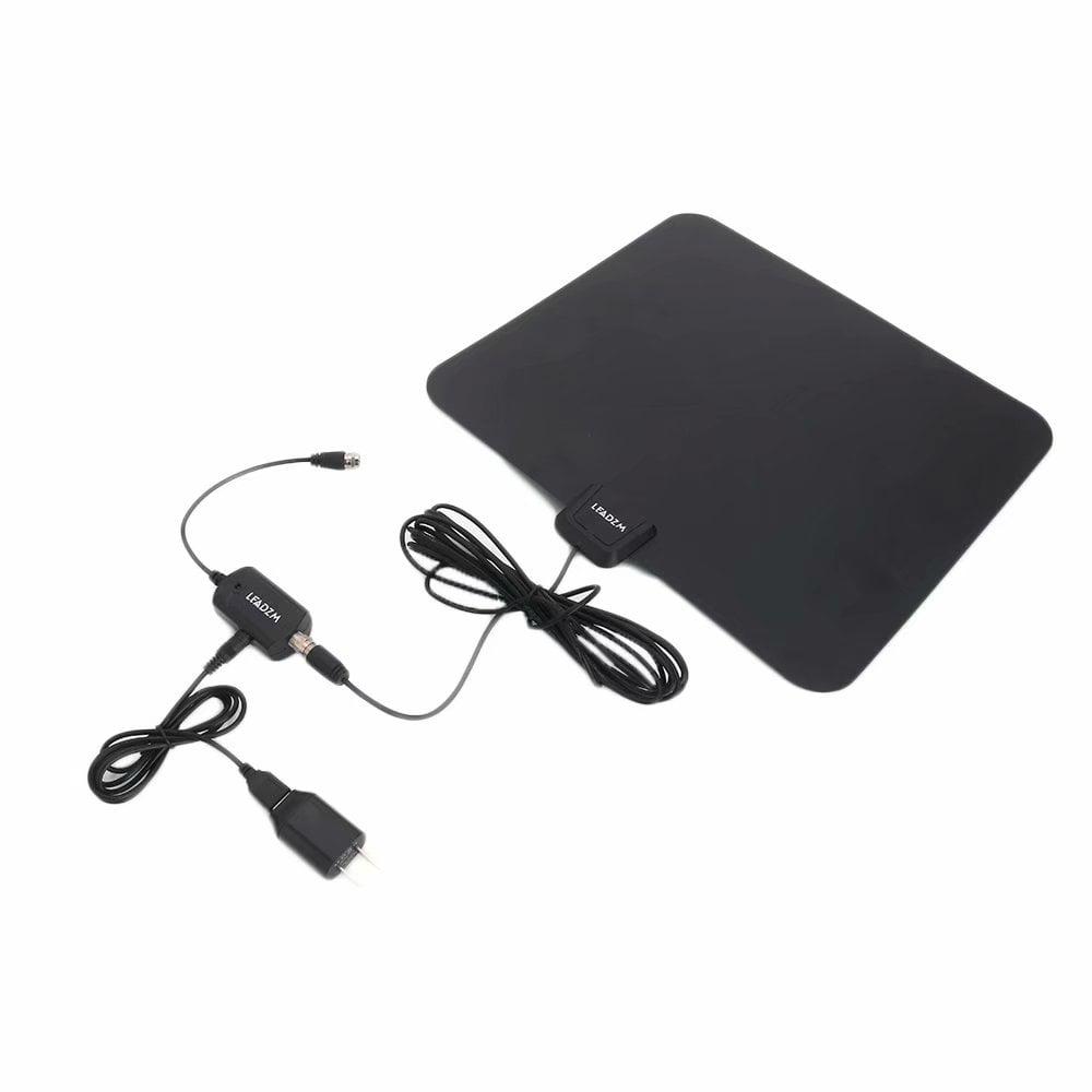 Nice Leadzm S108 50 Miles HD Digital Indoor TV Antenna Black US Plug