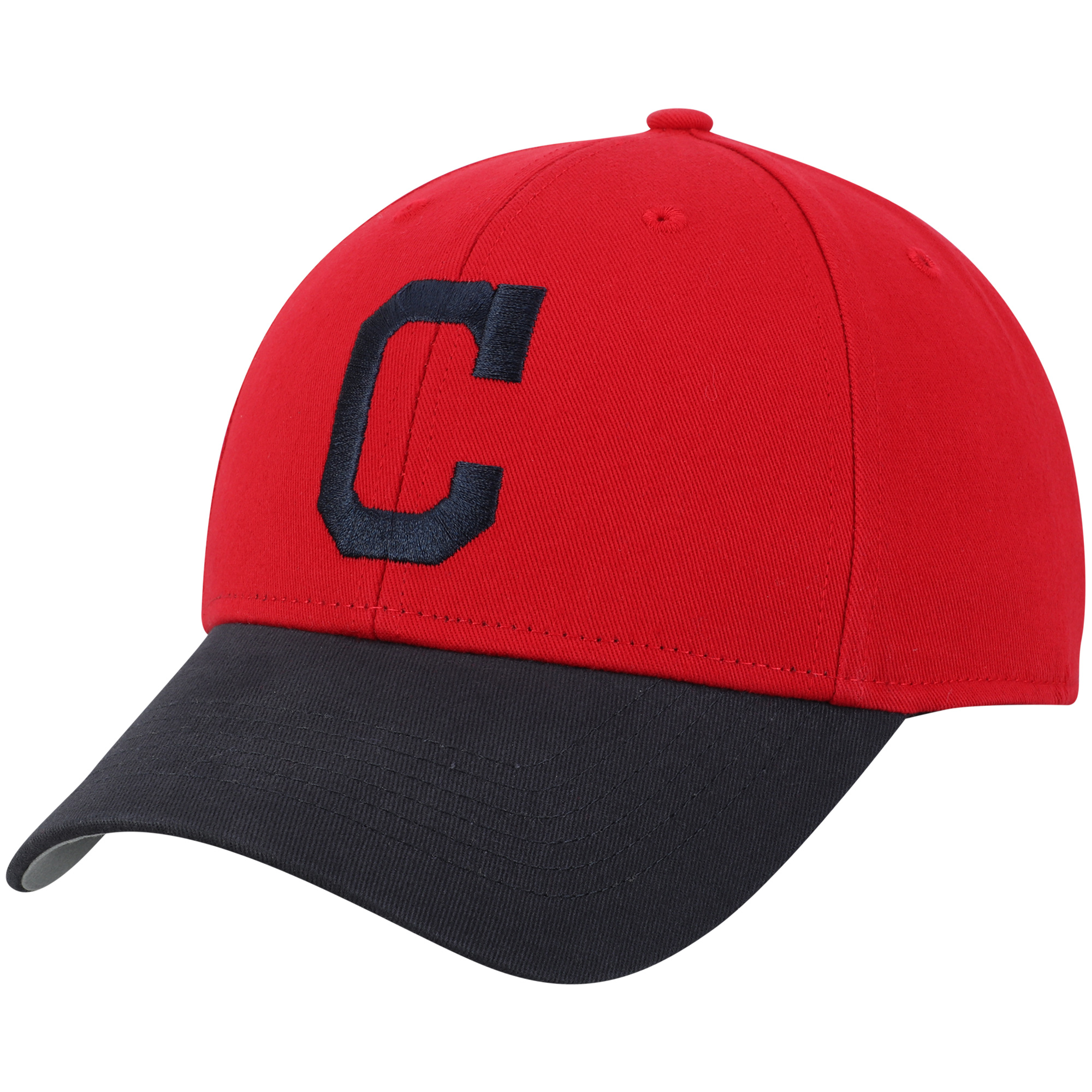 Men's Red/Navy Cleveland Indians Basic Adjustable Hat - OSFA