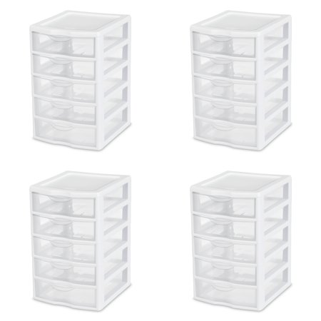 Sterilite Small 5 Drawer Unit Chest Of Drawers