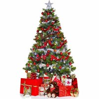 Christmas Tree and Presents Cardboard Stand-Up