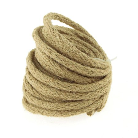Wired Jute Cord Rope Packaging, 8mm, 9-yard, Off White