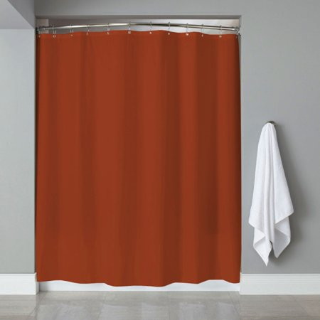 Sweet Home Collection Vinyl Shower Curtain Liner and Chrome Roller Hook (Red Celluloid Roller Ball)