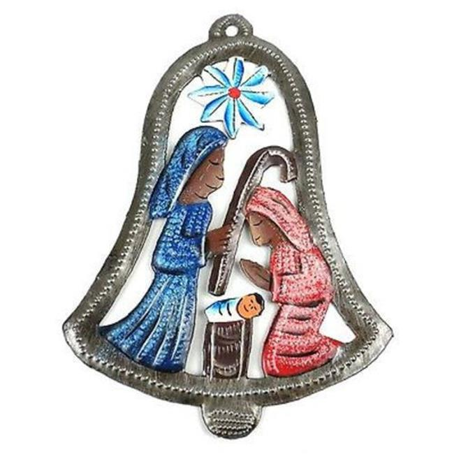 Croix des Bouquets H Hand Painted Bell Nativity Wall Art