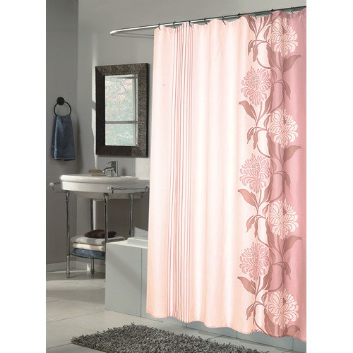 Carnation Home Fashions Chelsea Fabric Shower Curtain