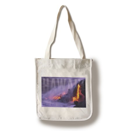 Free Flow Bag (Big Island - Hawai'i - Lava Flow - Lantern Press Photography (100% Cotton Tote Bag - Reusable))