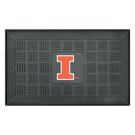 University of Illinois Medallion Door Mat Illinois University Tailgate Mat