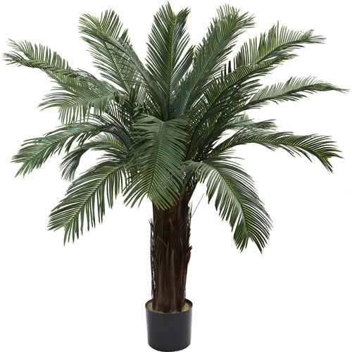 Nearly Natural 4' Cycas Tree, UV Resistant, Indoor and Outdoor