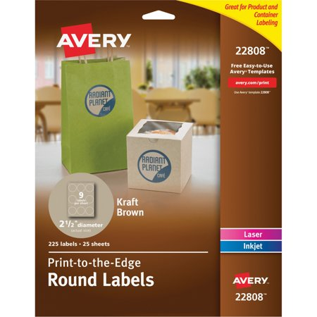 avery round print to the edge labels 2 12