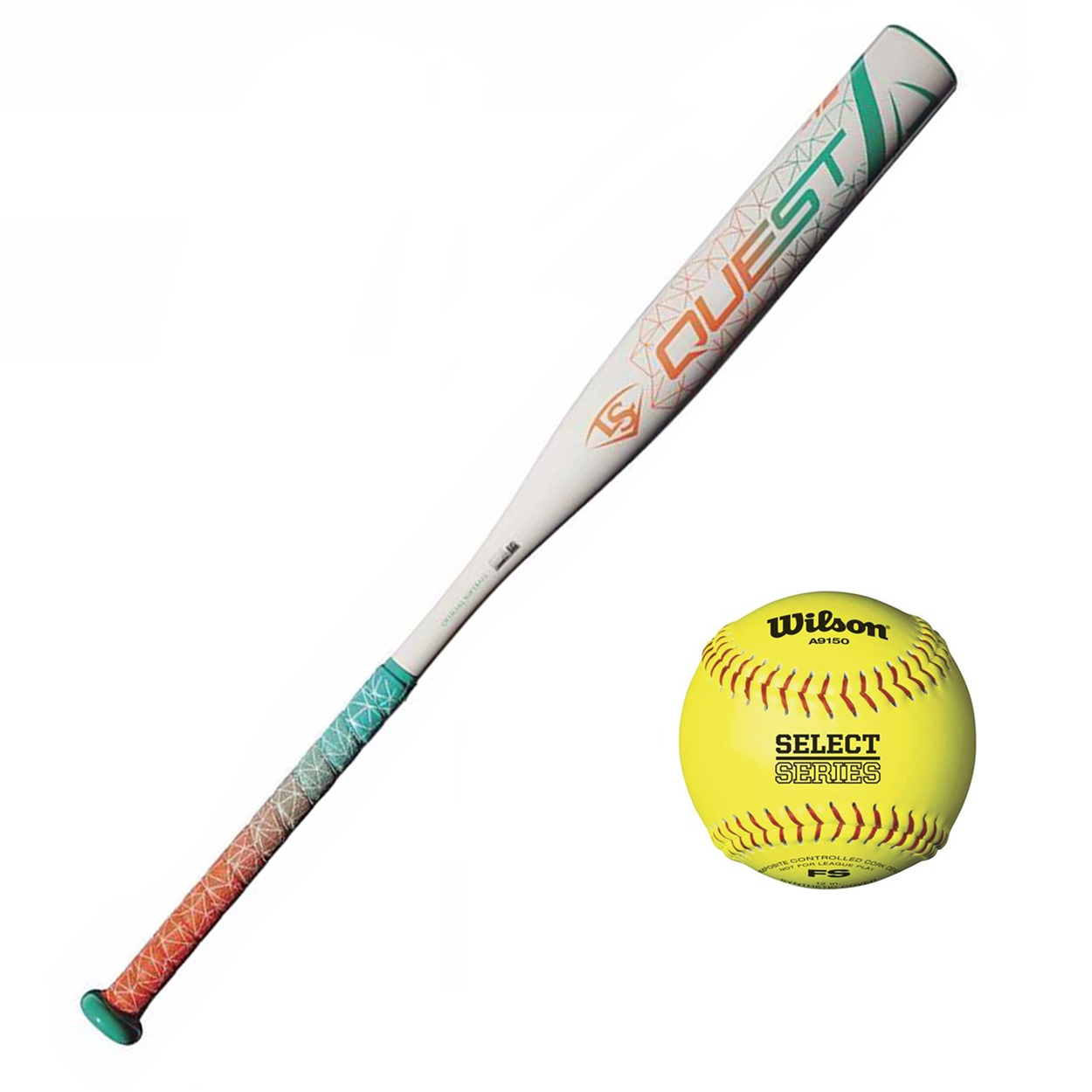 "Louisville Slugger 2018 Quest Fast Pitch Softball Bat  (31""/29 oz) with Softball"