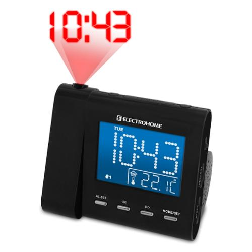 ELECTROHOME? SelfSet? Projection Clock Radio with Dual Alarm, Temperature, and Battery Backup