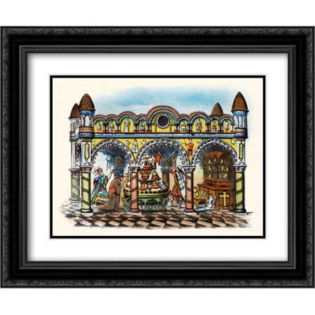 The Rape of the Crowns 2x Matted 24x20 Black Ornate Framed Art Print by Unknown