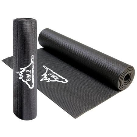 Black Mountain Products Mountain Eco Friendly Yoga Exercise Mat Black