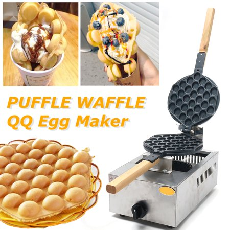 Moaere Rotating Non-Stick Hong Kong Waffle Maker Bubble Egg Cake Oven Bread Rotated Pan (Best Oven For Cooking)