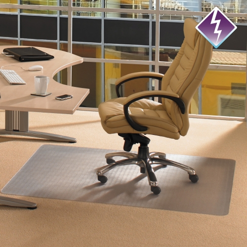 Computex Anti-Static Advantagemat Chair Mat for Standard-pile Carpets - Carpeted Floor, Carpet,