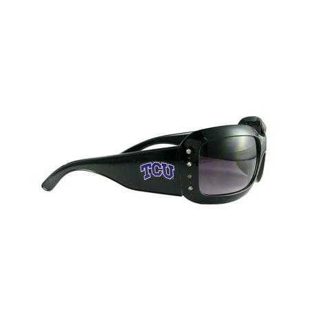TCU Texas Christian Horned Frogs Womens Black Fashion Sunglasses S4JT