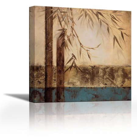 Bamboo Royale I - Contemporary Fine Art Giclee on Canvas Gallery Wrap - wall décor - Art painting - 36 x 36 Inch - Ready to Hang