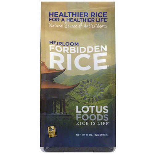 Lotus Foods Heirloom Forbidden Rice, 15 oz (Pack of 6)