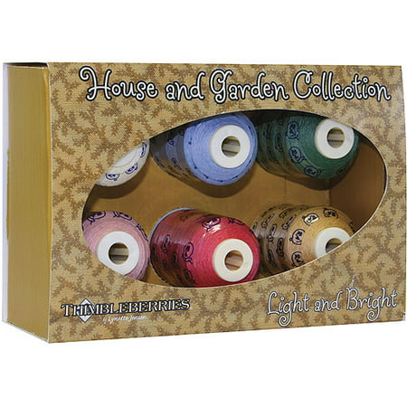Collections Mini King Spools (American & Efird Thimbleberries Cotton Collections Mini-King Spools, 6/Pkg,)