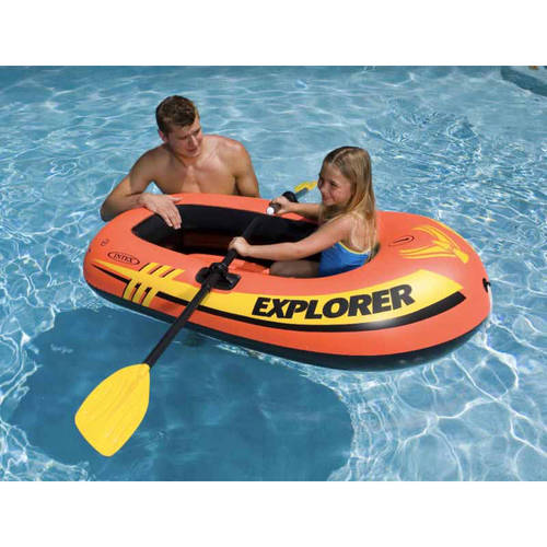 Intex Explorer 100 1-Person Inflatable Floating Boat, Pack of 2 by Intex