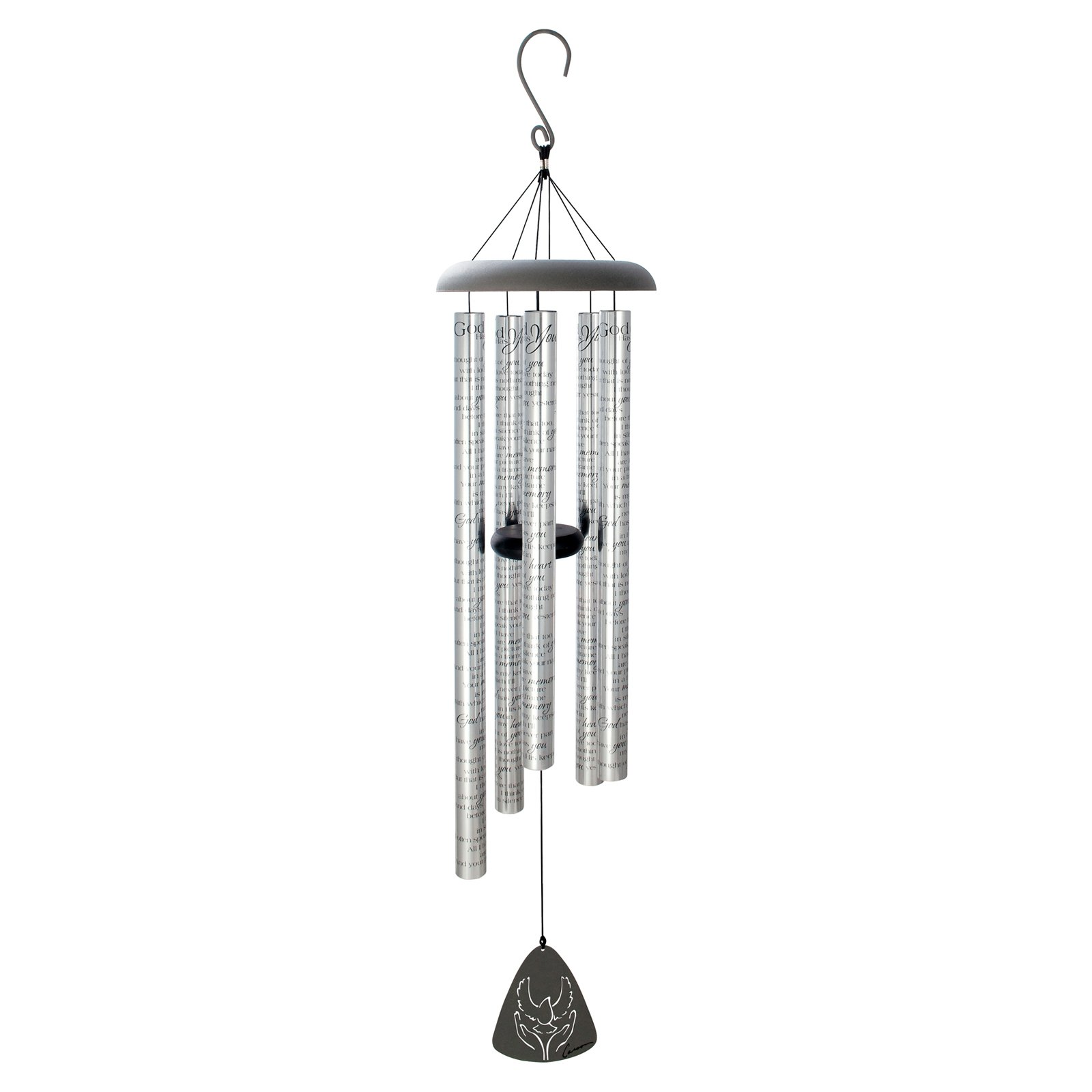 Carson 44 in. Sonnet Wind Chimes God Has You by Carson Home Accents