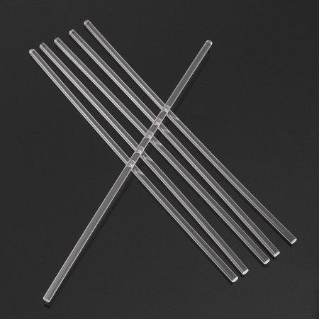 6 Pcs Transparent Acrylic Round Rod 1/4'' Diameter 12'' Length Clear Solid Bar  - image 3 de 6