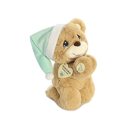 Aurora World Precious Moments Charlie Prayer Bear with Sound Now I Lay Me Down to Sleep Plush - Prayer Bear