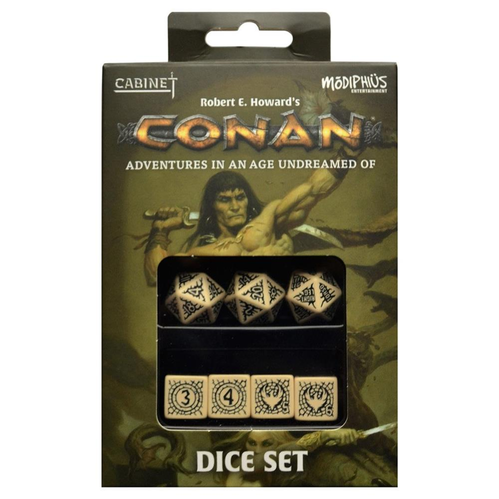 Conan: Dice Set (7) Robert E. Howard's Adventures in an Age Undreamed Of - Modiphius Entertainment MUH050554